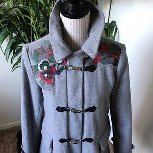 Janet Paris~Gray Flannel Coat SizeSmall